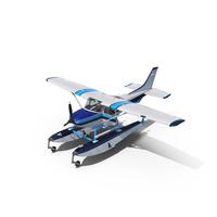 Cessna 182 Skylane on Floats PNG & PSD Images
