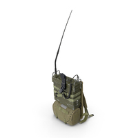 PRC-25 Radio with Pack PNG & PSD Images