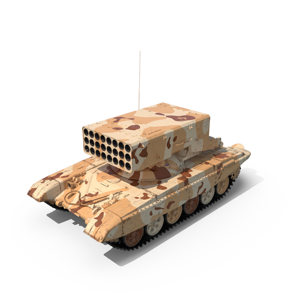 Desert Heavy Fire Throwing TOS-1A System PNG & PSD Images