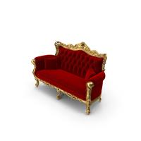Fabulous and Baroque Belle de Fleur French Sofa PNG & PSD Images