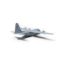 Lockheed C-130 Hercules with Open Gate PNG & PSD Images