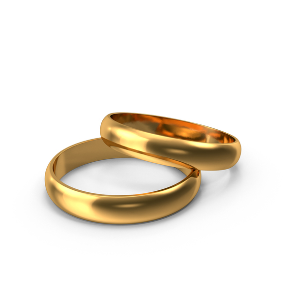 Gold Wedding Rings PNG & PSD Images