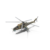 Russian Attack Helicopter Mil Mi-24B Hind PNG & PSD Images