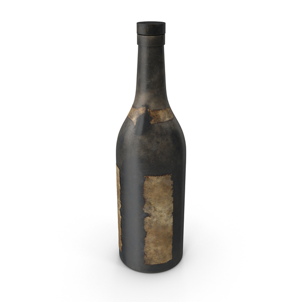 Old Bottle of Alcohol PNG & PSD Images