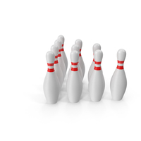 Ten Bowling Pins PNG & PSD Images