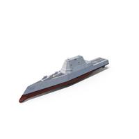 Zumwalt Class Destroyer US Stealth Ship PNG & PSD Images