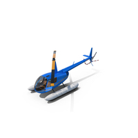 Robinson R44 Helicopter With Floats PNG & PSD Images