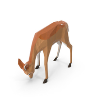 Low Poly Fawn PNG & PSD Images