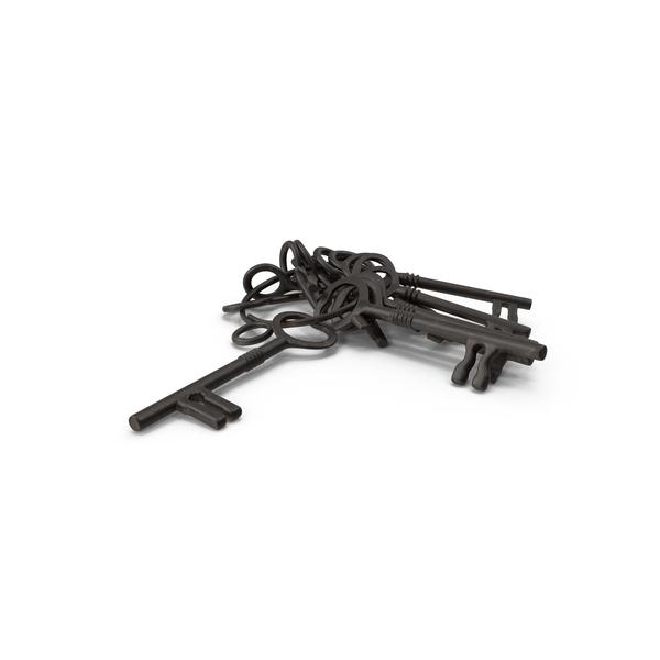 Skeleton Jailer Keys PNG & PSD Images