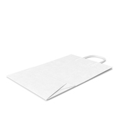 White Paper Shopping Bag PNG & PSD Images