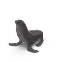 Low Poly Sea Lion PNG & PSD Images