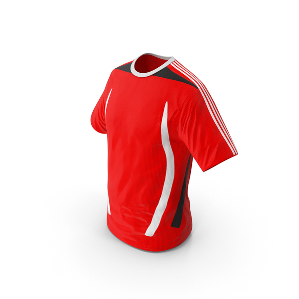 Red Soccer T-Shirt PNG & PSD Images