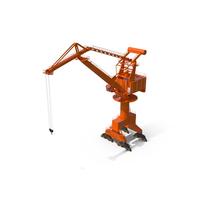 Level Luffing Port Crane PNG & PSD Images