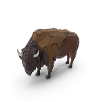Low Poly Buffalo PNG & PSD Images
