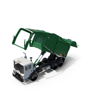 Green Garbage Truck PNG & PSD Images