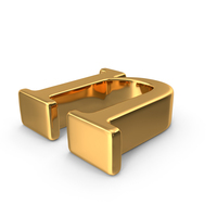 Gold Small Letter N PNG & PSD Images