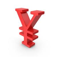 Red Yuan Symbol PNG & PSD Images