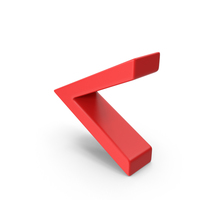 Red Angle Brackets Symbol PNG & PSD Images