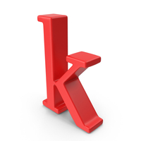 Red Small Letter K PNG & PSD Images