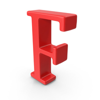 Red Capital Letter F PNG & PSD Images