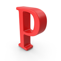 Red Capital Letter P PNG & PSD Images