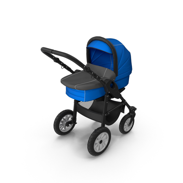 Blue Stroller PNG & PSD Images