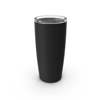 Travel Coffee Mug  Mockup Black with Lid PNG & PSD Images