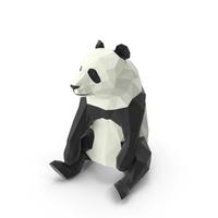 Low Poly Panda PNG & PSD Images
