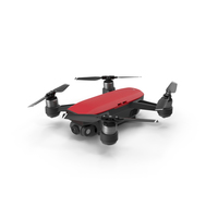 DJI Spark Red Drone PNG & PSD Images