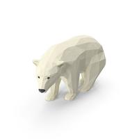 Low Poly Polar Bear PNG & PSD Images