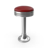 Retro Soda Fountain Stool PNG & PSD Images