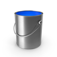Open Metal Paint Can Blue PNG & PSD Images