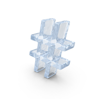 Ice Hash Tag PNG & PSD Images