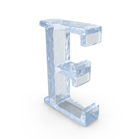 Ice Capital letter E PNG & PSD Images