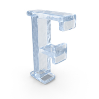 Ice Capital Letter F PNG & PSD Images