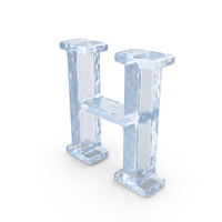 Ice Capital Letter H PNG & PSD Images