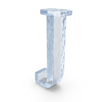 Ice Capital Letter J PNG & PSD Images
