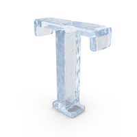 Ice Capital letter T PNG & PSD Images