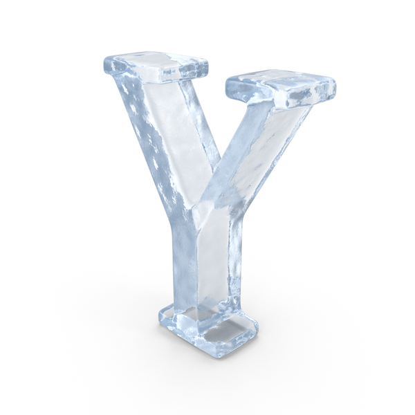 Ice Capital Letter Y PNG & PSD Images