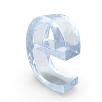 Ice Letter Lowercase E PNG & PSD Images