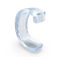 Ice Letter Lowercase C PNG & PSD Images