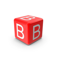 Red B Block PNG & PSD Images