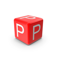 Red P Block PNG & PSD Images