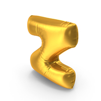 Gold Foil Balloon Letter Z PNG & PSD Images
