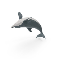 Low Poly Dolphin PNG & PSD Images
