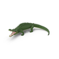 Low Poly Alligator PNG & PSD Images