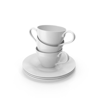 Cups on Saucers PNG & PSD Images