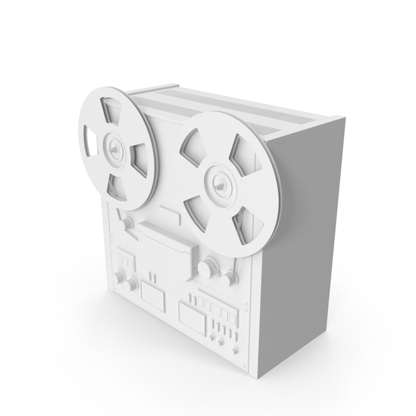 Monochrome Reel to Reel Player PNG & PSD Images