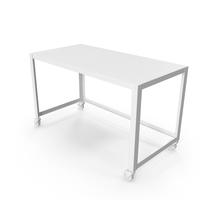 Monochrome Wheeled Desk PNG & PSD Images