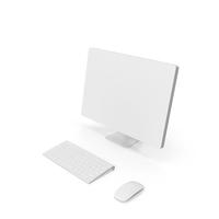 Monochrome Computer Setup PNG & PSD Images